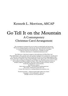Go, Tell it on the Mountain: Für Stimme und Klavier by folklore