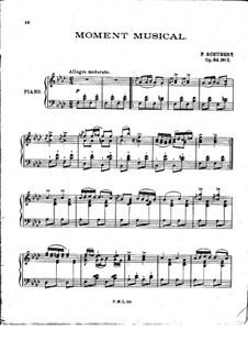 Sechs musikalische Momente, D.780 Op.94: Musikalischer Moment Nr.3 für Klavier by Franz Schubert