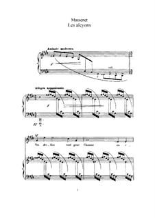 Les alcyons: Für hohe Stimme und Klavier by Jules Massenet