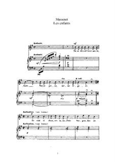 Les enfants: Für hohe Stimme und Klavier by Jules Massenet