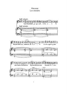 Les oiselets: Für hohe Stimme und Klavier by Jules Massenet