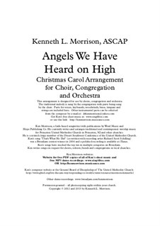 Angels We Have Heard on High: For voice and piano (Revised for Christmas 2013) by Unknown (works before 1850)