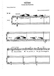 Néére: Für Mittelstimme und Klavier by Jules Massenet