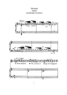 Néére: Für hohe Stimme und Klavier by Jules Massenet