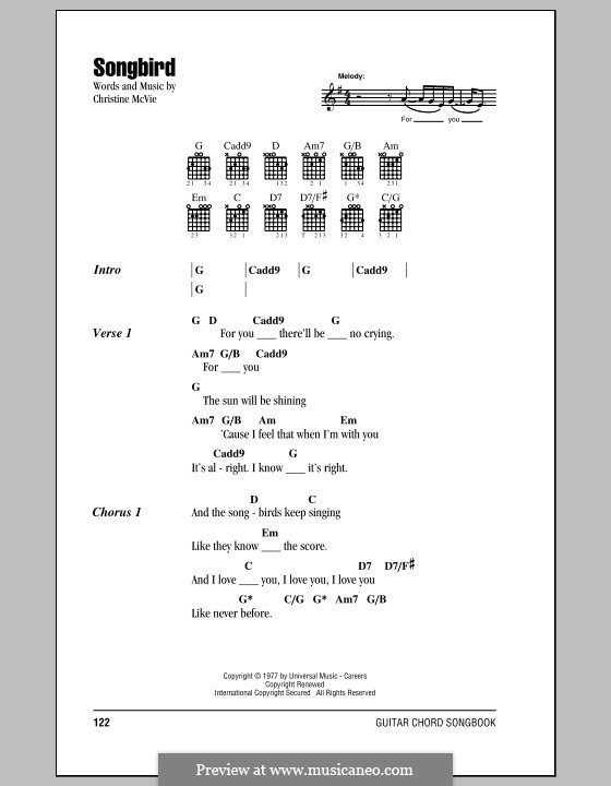 Songbird (Fleetwood Mac): Text und Akkorde by Christine McVie