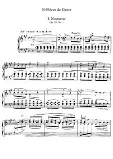 Dix pièces de genre, Op.10: Vollsammlung by Jules Massenet