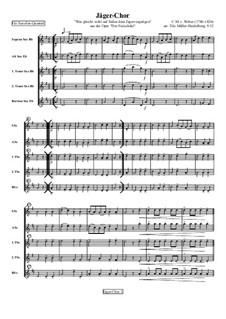 Akt III, Nr.15 Jägerchor: Für vier (oder fünf) Saxophone by Carl Maria von Weber