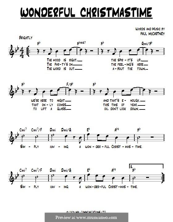 Wonderful Christmastime: Text und Akkorde by Paul McCartney