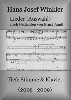 Lieder nach Gedichten von Ernst Jandl: Für stimme und Klavier (Auswahl für tiefe Stimme) by Hans Josef Winkler
