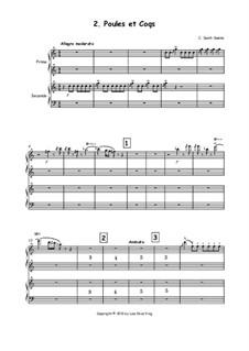 Hühner und Hähne: Version für Klavier, vierhändig by Camille Saint-Saëns