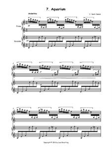 Das Aquarium: Version für Klavier, vierhändig by Camille Saint-Saëns