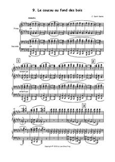 Der Kuckuck in der Tiefe des Waldes: Version für Klavier, vierhändig by Camille Saint-Saëns