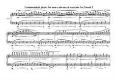 3 antimetrical piano pieces for advanced students: Piece No.2, book II, MVWV 364 by Maurice Verheul