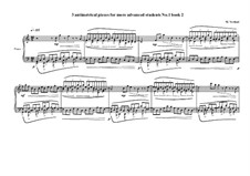 3 antimetrical piano pieces for advanced students: Piece No.1, book II, MVWV 363 by Maurice Verheul