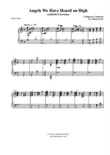 Angels We Have Heard on High: Für Klavier, AMSM77 by Unknown (works before 1850)