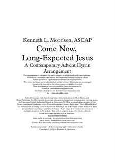 Come, Thou Long-Expected Jesus: For voice, guitar, bass guitar and piano by Rowland Huw Prichard