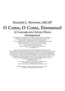 O Come, O Come, Emmanuel: For voice, flute and piano (with chords) by folklore