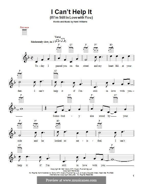I Can't Help It (If I'm Still in Love with You): Für Ukulele by Hank Williams