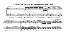 3 antimetrical piano pieces for advanced students: Piece No.2, book I, MVWV 361 by Maurice Verheul