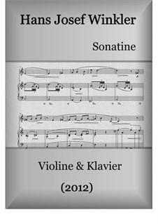 Sonate (2012): Für Violine und Klavier by Hans Josef Winkler