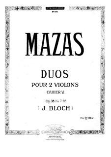 Zwölf kleine Duette für zwei Violinen, Op.38: Duo Nr.7 by Jacques Féréol Mazas