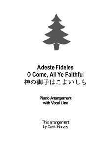 Herbei o ihr Gläubigen: Für Stimme und Klavier by John Francis Wade