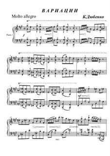 Variations for piano: Variations for piano by Konstantin Dyubenko