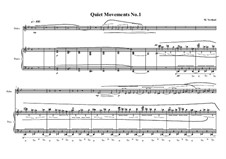 Quiet Movements: No.1 for oboe and piano, MVWV 606 by Maurice Verheul
