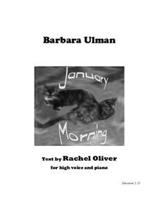 January Morning: January Morning by Barbara Ulman