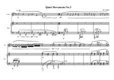 Quiet Movements: No.3 for cornet and piano, MVWV 608 by Maurice Verheul