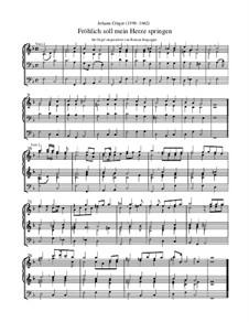 Fröhlich soll mein Herze springen: Orgel-Transkription by Johann Crüger