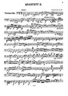 Streichquartett Nr.2 in A-Dur, Op.13: Cellostimme by Felix Mendelssohn-Bartholdy