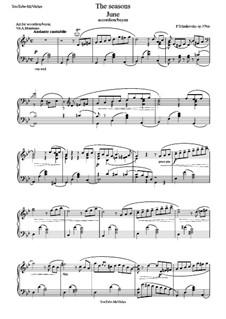 Nr.6 Juni (Barkarole): For accordion (or bayan) by Pjotr Tschaikowski