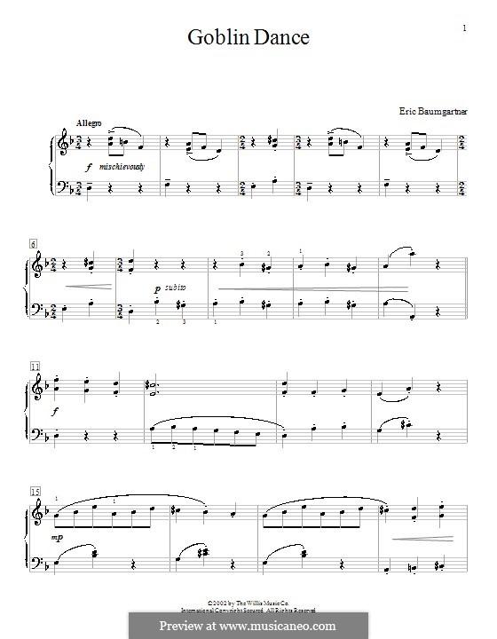 Goblin Dance: Für Klavier by Eric Baumgartner