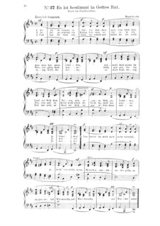Sechs Lieder, Op.47: Nr.4 Es ist bestimmt in Gottes Rat by Felix Mendelssohn-Bartholdy