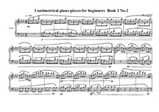 3 antimetrical piano pieces for beginners: Piece No.2, book II, MVWV 358 by Maurice Verheul