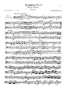Sinfonie Nr.2 in B-Dur 'Lobgesang', Op.52: Cello- und Kontrabassstimmen by Felix Mendelssohn-Bartholdy