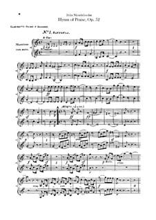 Sinfonie Nr.2 in B-Dur 'Lobgesang', Op.52: Klarinettenstimme by Felix Mendelssohn-Bartholdy
