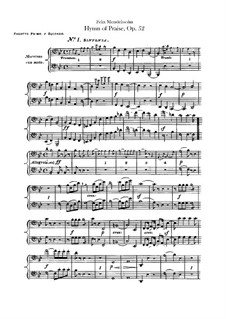 Sinfonie Nr.2 in B-Dur 'Lobgesang', Op.52: Fagottenstimme by Felix Mendelssohn-Bartholdy