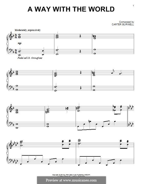 A Way with the World: Für Klavier by Carter Burwell