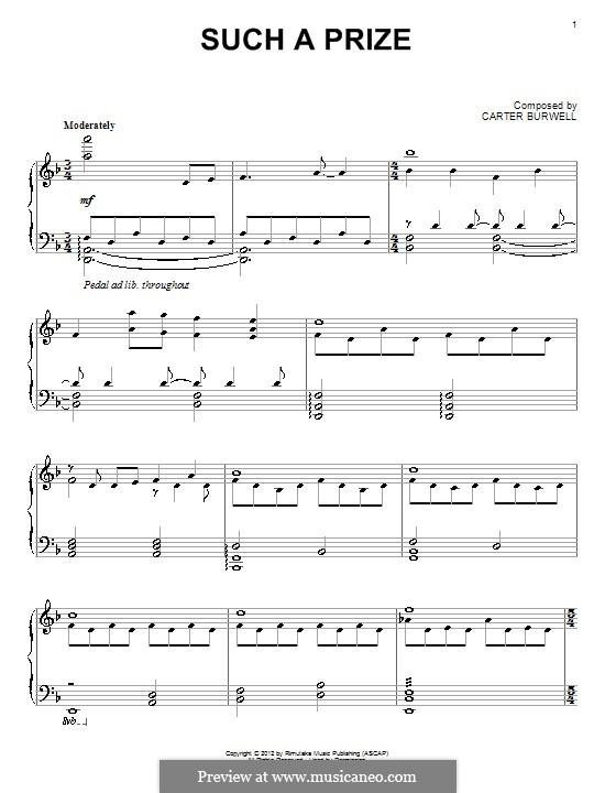 Such a Price: Für Klavier by Carter Burwell