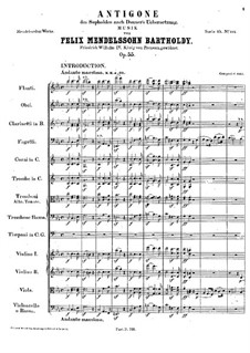 Antigone, Op.55: Introduktion by Felix Mendelssohn-Bartholdy