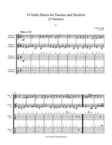 10 Little Duets for Teacher and Student: Für zwei Gitarren by Jordan Grigg