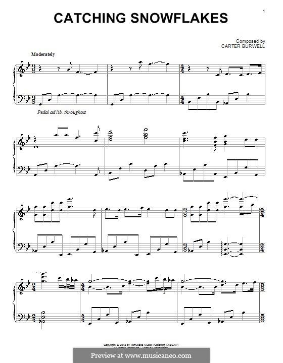 Catching Snowflakes: Für Klavier by Carter Burwell
