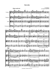 Gavotte in D-Dur: Für Streichquartett by François Joseph Gossec