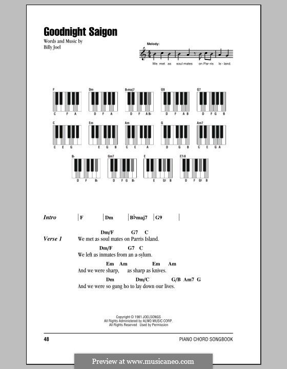 Goodnight Saigon: Texte und Akkorde by Billy Joel
