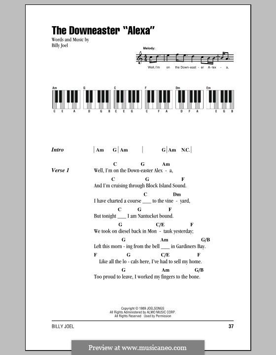 The Downeaster 'Alexa': Texte und Akkorde by Billy Joel