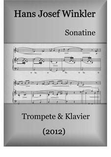 Sonate (2012): Für Trompete und Klavier by Hans Josef Winkler