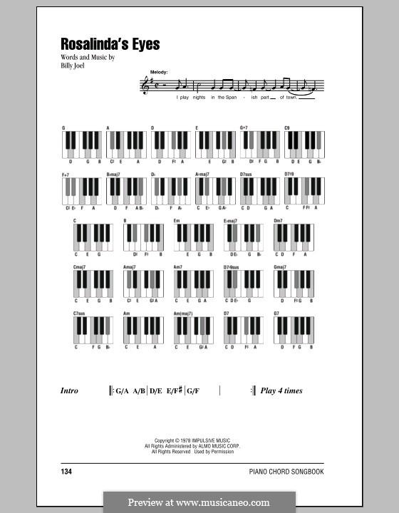 Rosalinda's Eyes: Texte und Akkorde by Billy Joel