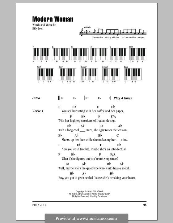 Modern Woman: Texte und Akkorde by Billy Joel